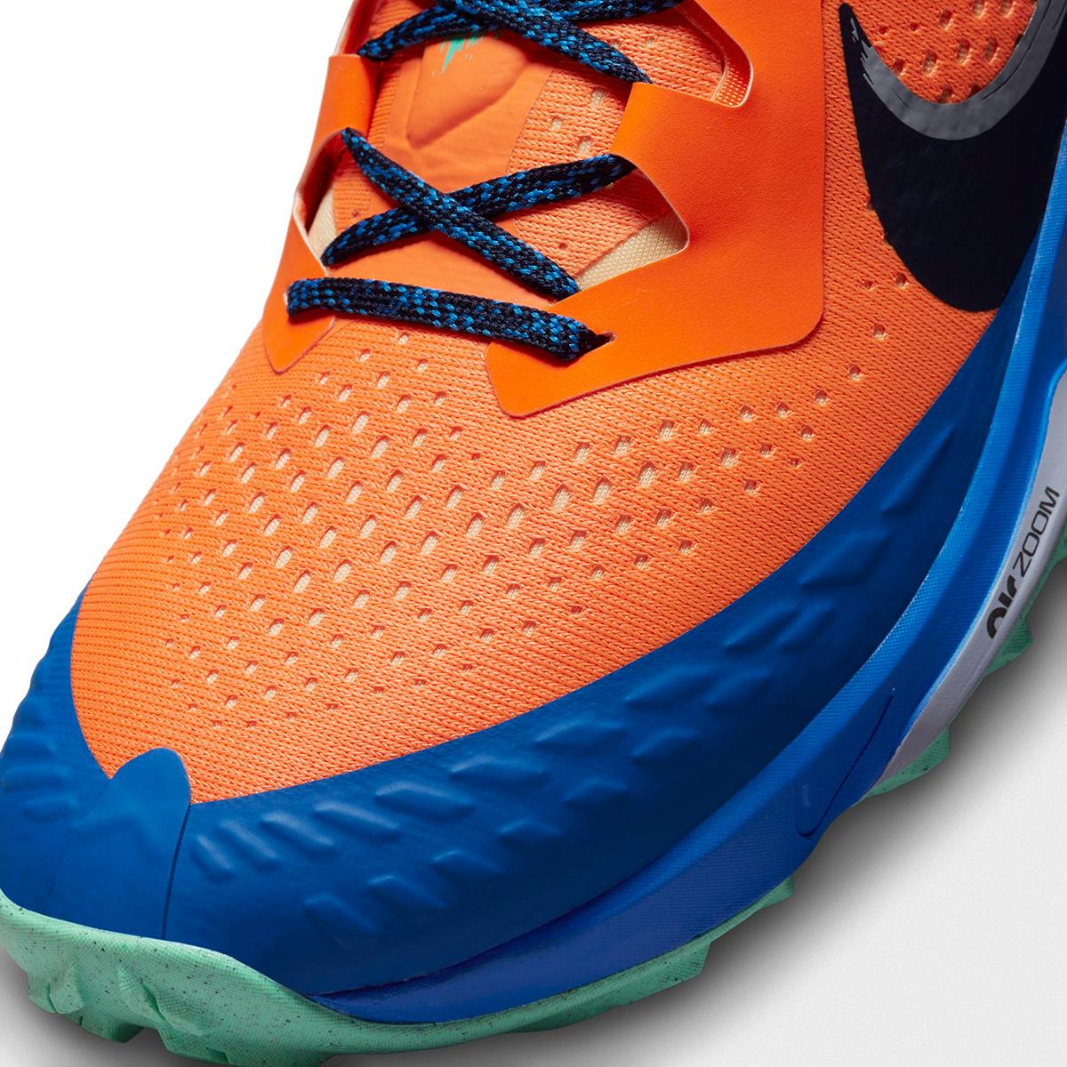 Men's Nike Air Zoom Terra Kiger 7 Trail Running Shoe - Color: Total Orange/Obsidian/Signal Blue - Size: 6 - Width: Regular, Total Orange/Obsidian/Signal Blue, large, image 4