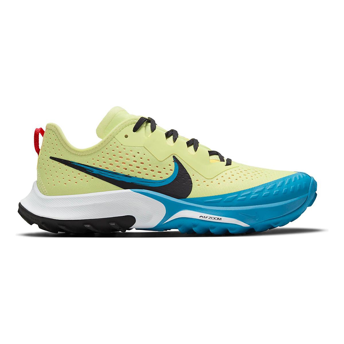 Women's Nike Air Zoom Terra Kiger 7 Trail Running Shoe - Color: Limelight/Off Noir/Laser Blue - Size: 5 - Width: Regular, Limelight/Off Noir/Laser Blue, large, image 1
