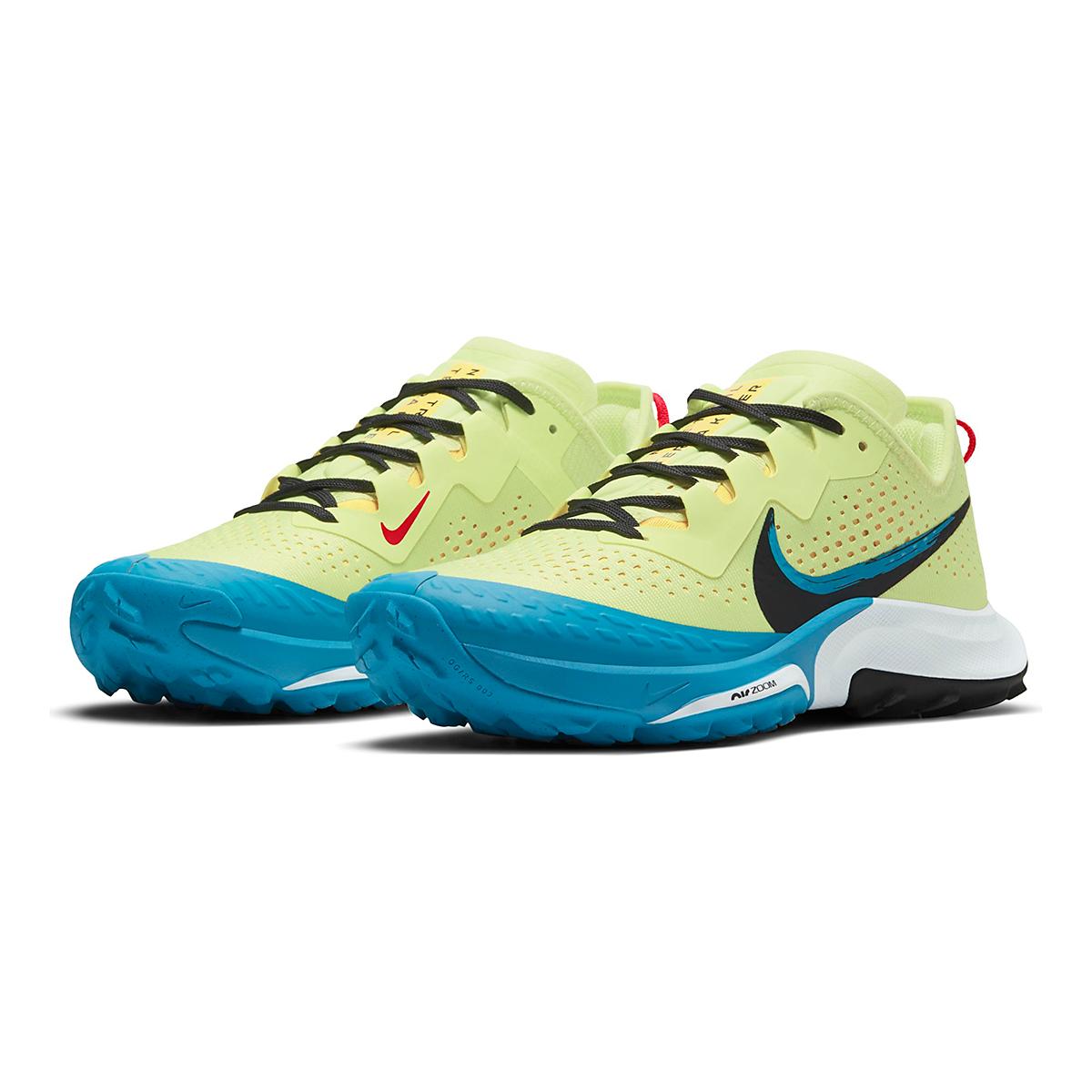 Women's Nike Air Zoom Terra Kiger 7 Trail Running Shoe - Color: Limelight/Off Noir/Laser Blue - Size: 5 - Width: Regular, Limelight/Off Noir/Laser Blue, large, image 3