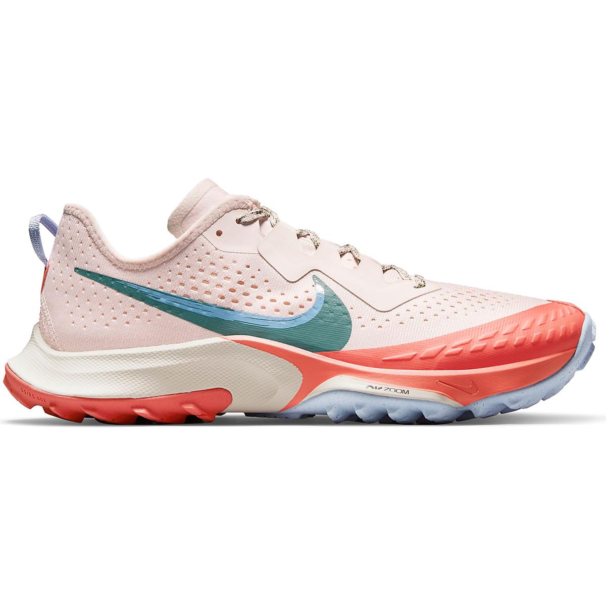 Women's Nike Air Zoom Terra Kiger 7 Trail Running Shoe - Color: Light Soft Pink/Bicoastal/Magic Ember - Size: 5 - Width: Regular, Light Soft Pink/Bicoastal/Magic Ember, large, image 1