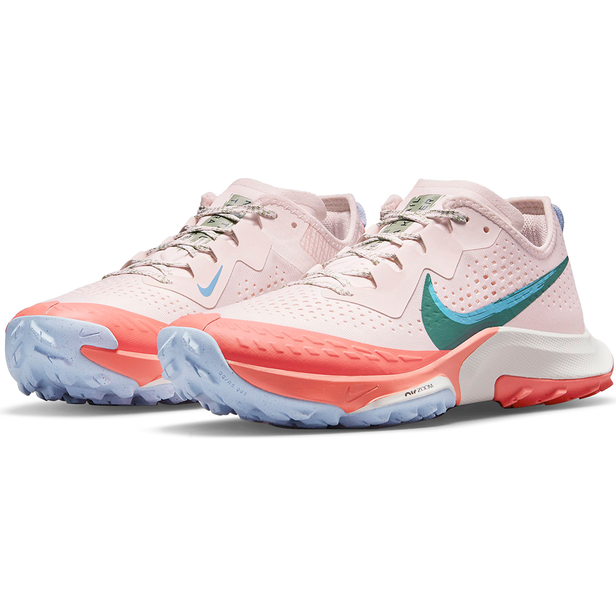Women's Nike Air Zoom Terra Kiger 7 Trail Running Shoe - Color: Light Soft Pink/Bicoastal/Magic Ember - Size: 5 - Width: Regular, Light Soft Pink/Bicoastal/Magic Ember, large, image 5