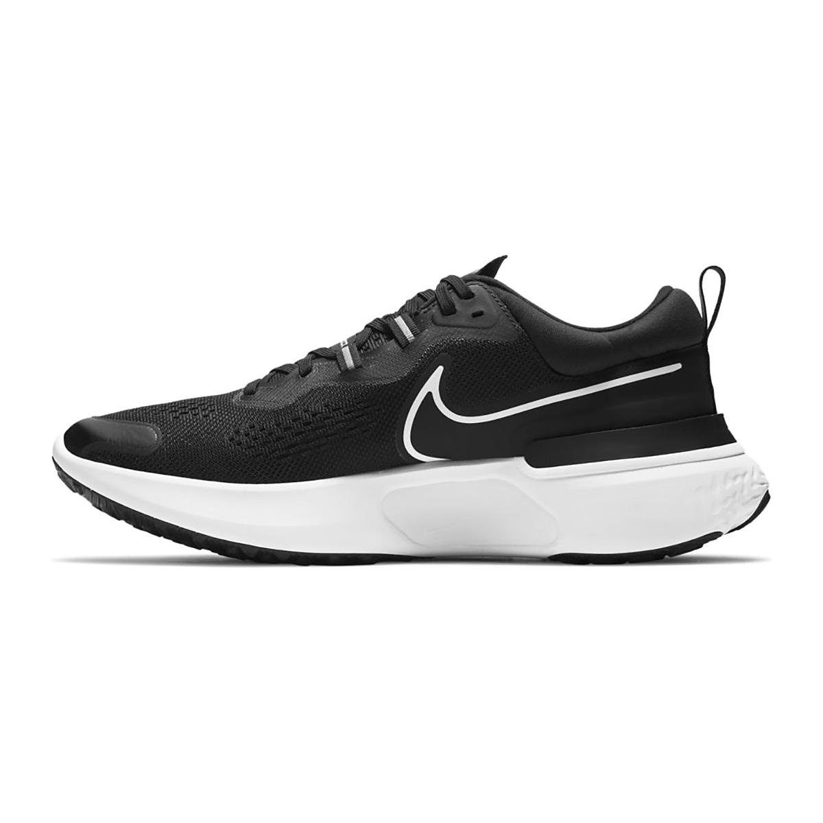 Men's Nike React Miler 2 Running Shoe - Color: Black/White/Smoke Grey - Size: 6.5 - Width: Regular, Black/White/Smoke Grey, large, image 2