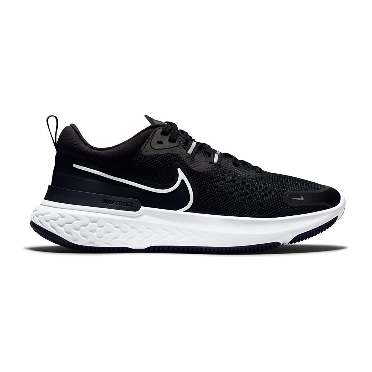 Women's Nike React Miler 2 Running Shoe - Color: Black/White/Smoke Grey - Size: 5.5 - Width: Regular, Black/White/Smoke Grey, large, image 1