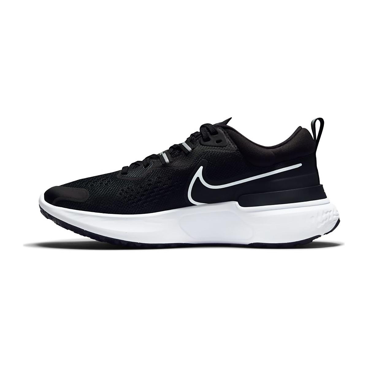 Women's Nike React Miler 2 Running Shoe - Color: Black/White/Smoke Grey - Size: 5.5 - Width: Regular, Black/White/Smoke Grey, large, image 2