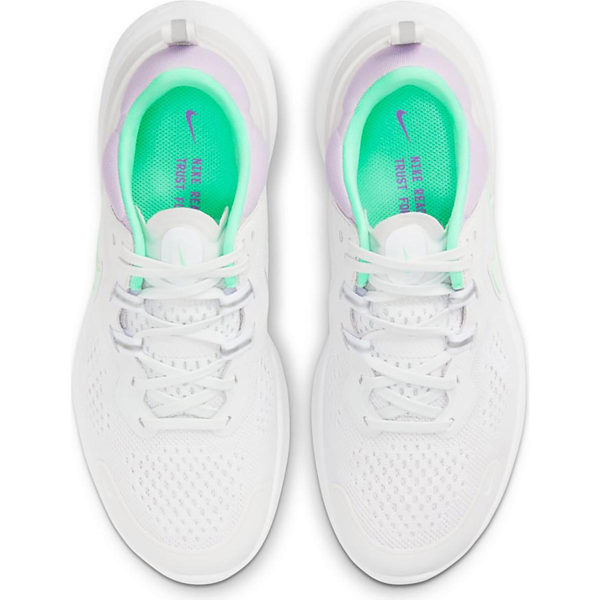 Women's Nike React Miler 2 Running Shoe - Color: Platinum Tint/Green Glow-White - Size: 5 - Width: Regular, Platinum Tint/Green Glow-White, large, image 3