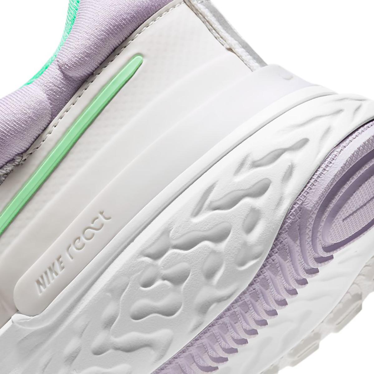 Women's Nike React Miler 2 Running Shoe - Color: Platinum Tint/Green Glow-White - Size: 5 - Width: Regular, Platinum Tint/Green Glow-White, large, image 5