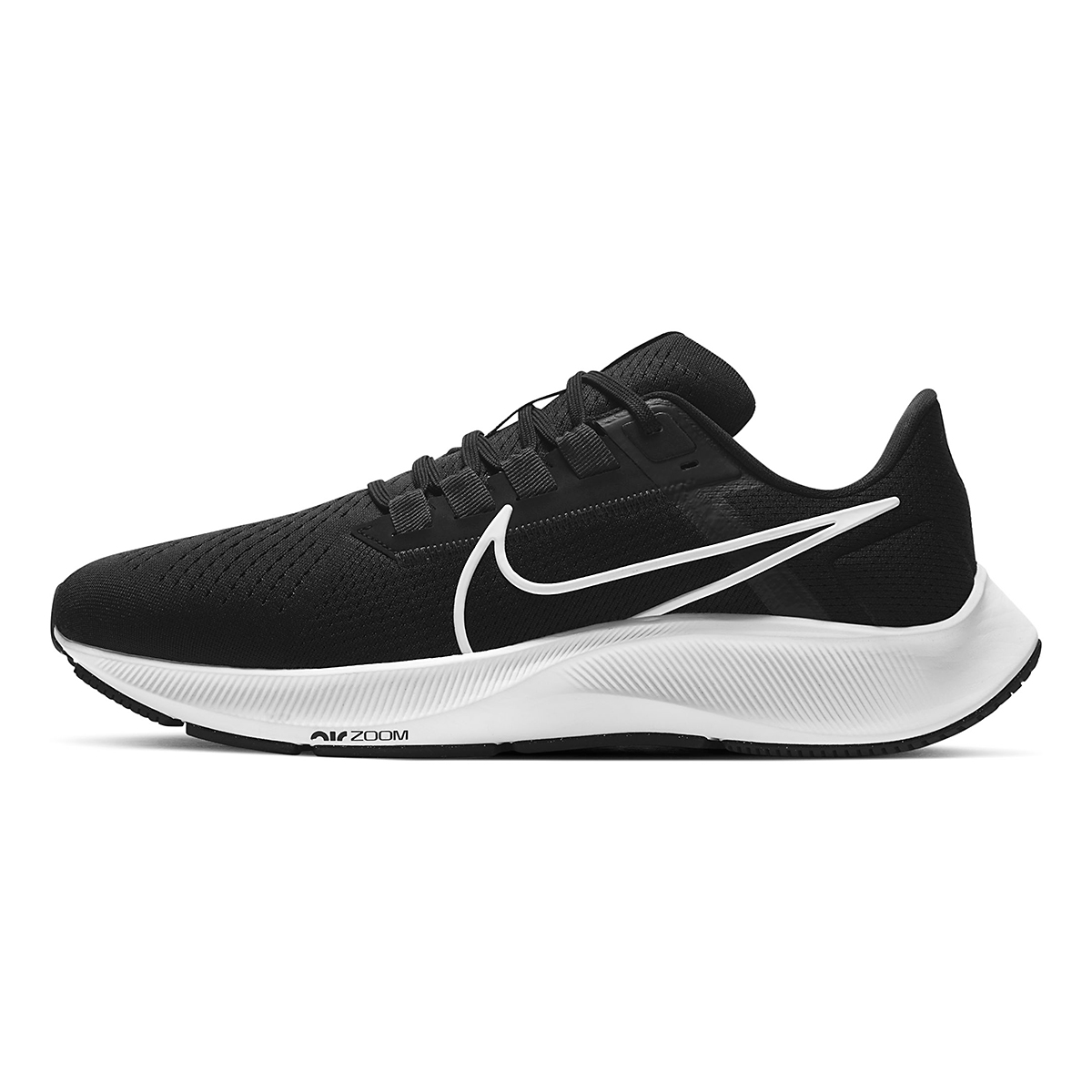 Men's Nike Air Zoom Pegasus 38 Running Shoe - Color: Black/White/Anthracite - Size: 6 - Width: Regular, Black/White/Anthracite, large, image 2