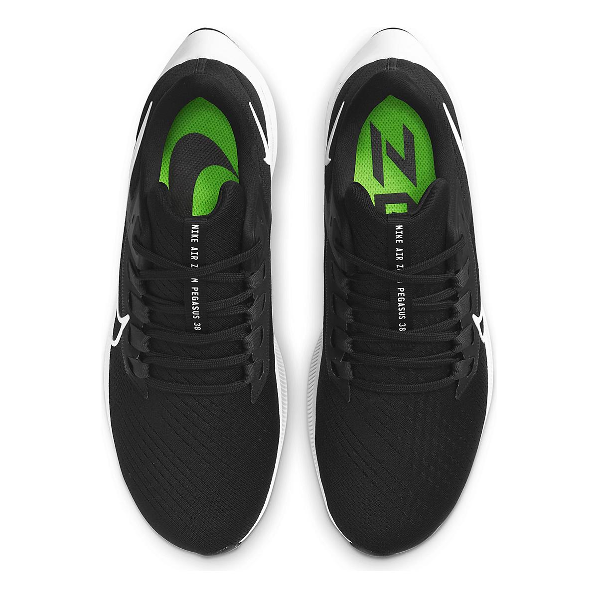 Men's Nike Air Zoom Pegasus 38 Running Shoe - Color: Black/White/Anthracite - Size: 6 - Width: Regular, Black/White/Anthracite, large, image 6