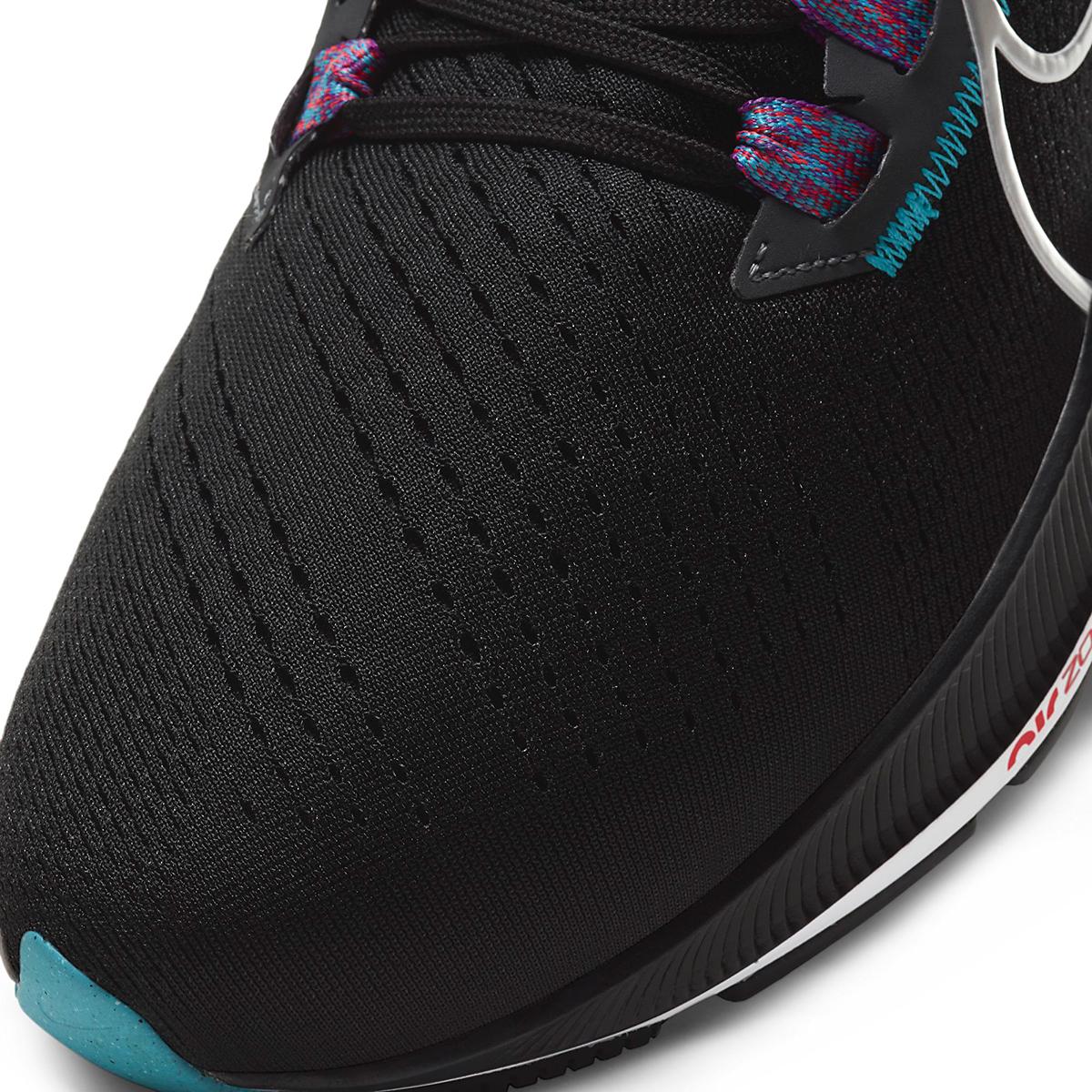 Men's Nike Air Zoom Pegasus 38 Running Shoe - Color: Black/Metallic Silver/White - Size: 6.5 - Width: Regular, Black/Metallic Silver/White, large, image 4