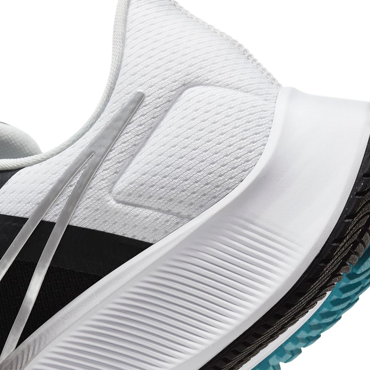Men's Nike Air Zoom Pegasus 38 Running Shoe - Color: Black/Metallic Silver/White - Size: 6.5 - Width: Regular, Black/Metallic Silver/White, large, image 5
