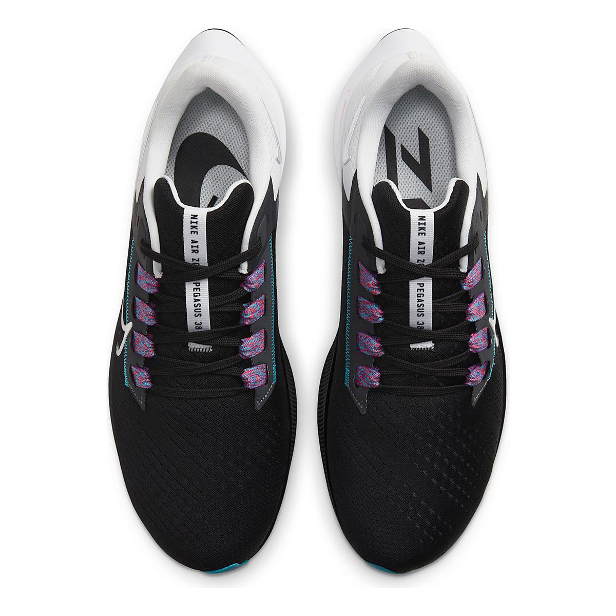 Men's Nike Air Zoom Pegasus 38 Running Shoe - Color: Black/Metallic Silver/White - Size: 6.5 - Width: Regular, Black/Metallic Silver/White, large, image 6