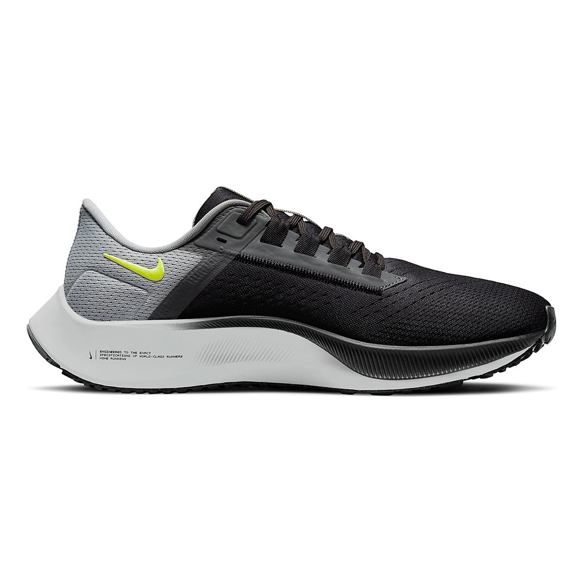 Men's Nike Air Zoom Pegasus 38 Running Shoe - Color: Smoke Grey/Volt Grey - Size: 6 - Width: Regular, Smoke Grey/Volt Grey, large, image 1