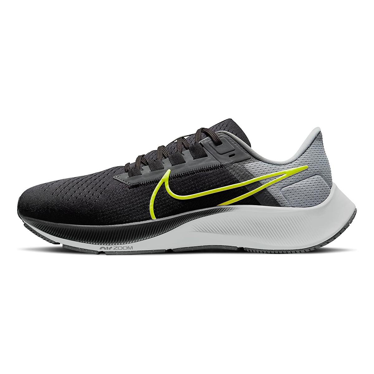 Men's Nike Air Zoom Pegasus 38 Running Shoe - Color: Smoke Grey/Volt Grey - Size: 6 - Width: Regular, Smoke Grey/Volt Grey, large, image 2