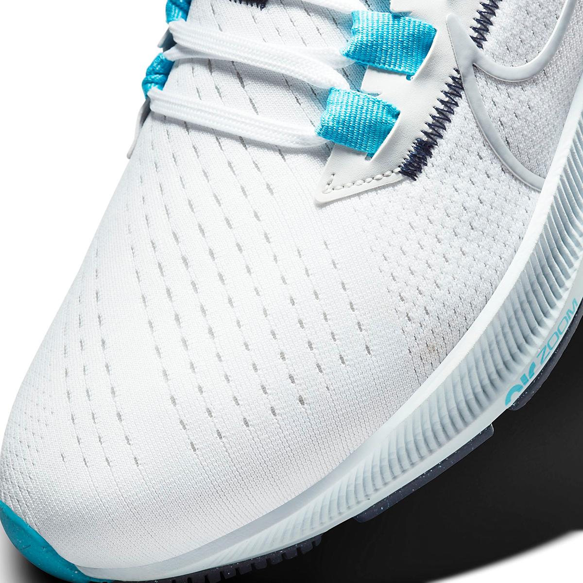 Men's Nike Air Zoom Pegasus 38 Running Shoe - Color: White/Wolf Grey/Pure Platinum - Size: 6 - Width: Regular, White/Wolf Grey/Pure Platinum, large, image 4