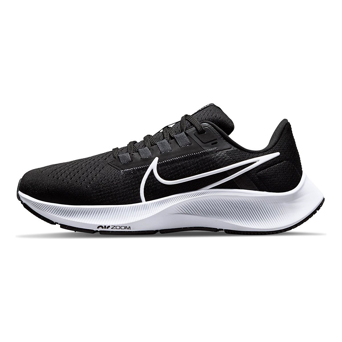 Women's Nike Air Zoom Pegasus 38 Running Shoe - Color: Black/White/Anthracite - Size: 5 - Width: Regular, Black/White/Anthracite, large, image 2