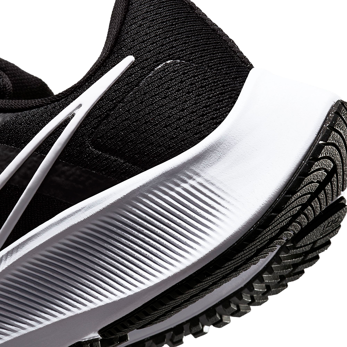 Women's Nike Air Zoom Pegasus 38 Running Shoe - Color: Black/White/Anthracite - Size: 5 - Width: Regular, Black/White/Anthracite, large, image 5