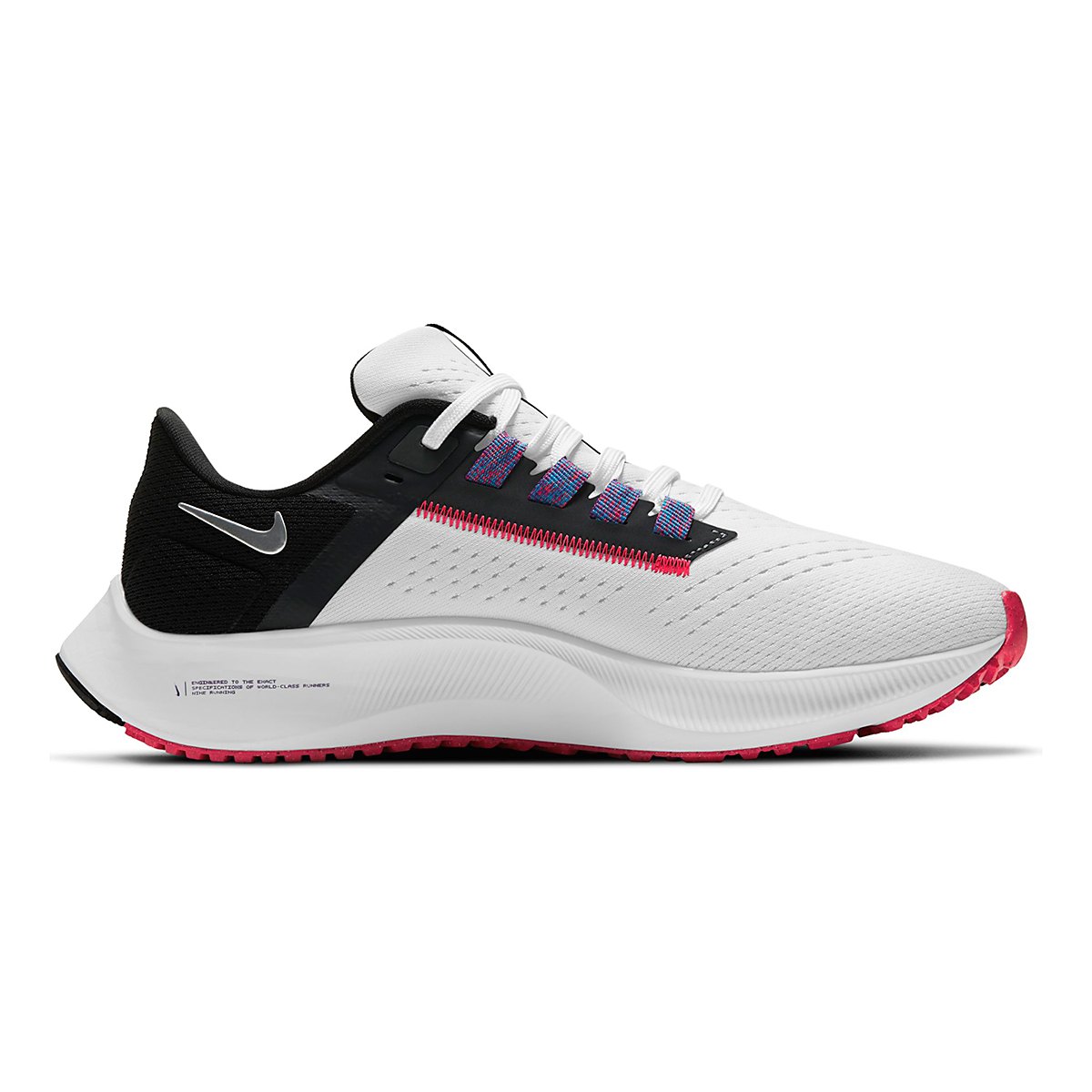 Women's Nike Air Zoom Pegasus 38 Running Shoe - Color: White/Metallic Silver/Black - Size: 5 - Width: Regular, White/Metallic Silver/Black, large, image 1