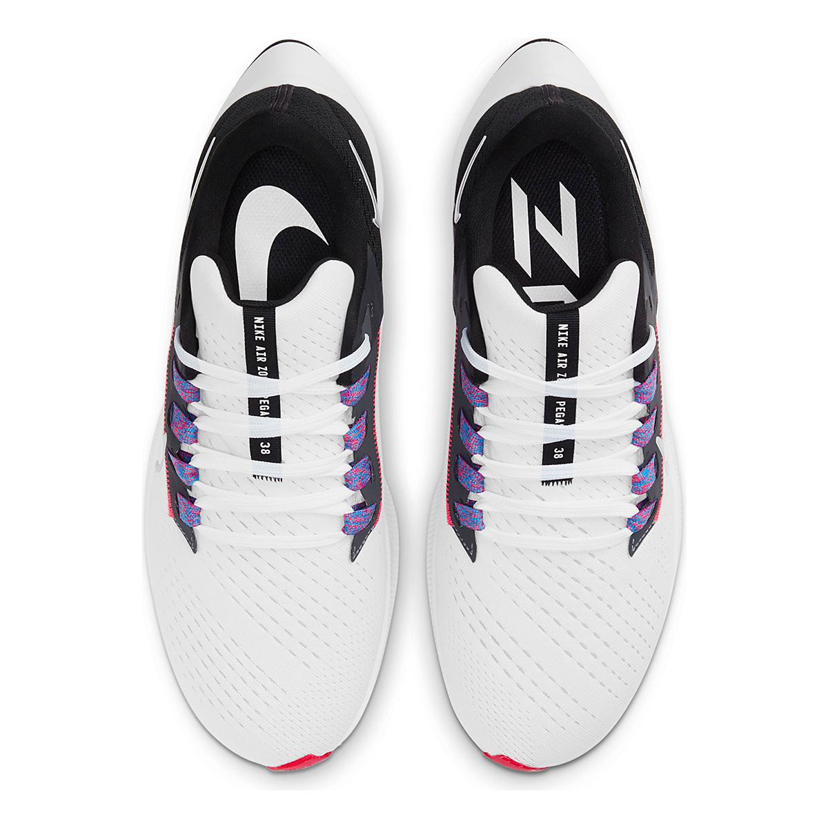 Women's Nike Air Zoom Pegasus 38 Running Shoe - Color: White/Metallic Silver/Black - Size: 5 - Width: Regular, White/Metallic Silver/Black, large, image 6