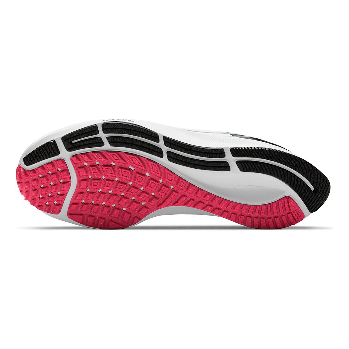 Women's Nike Air Zoom Pegasus 38 Running Shoe - Color: White/Metallic Silver/Black - Size: 5 - Width: Regular, White/Metallic Silver/Black, large, image 7