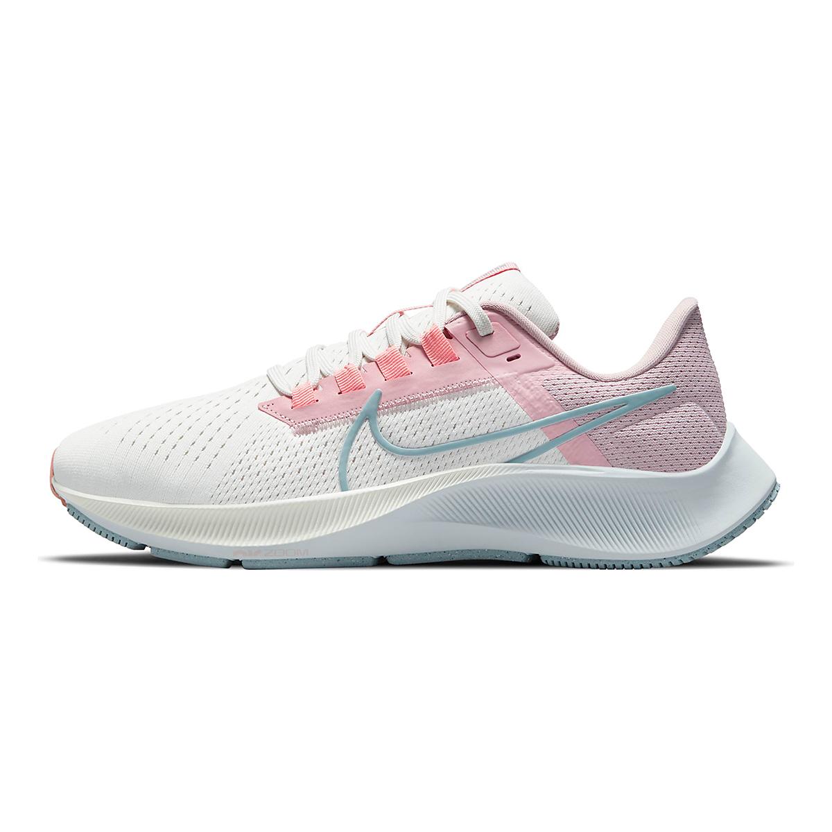 Women's Nike Air Zoom Pegasus 38 Running Shoe - Color: Sail/Ocean Cube/Pink Glaze/Crimson Bliss - Size: 5 - Width: Regular, Sail/Ocean Cube/Pink Glaze/Crimson Bliss, large, image 2