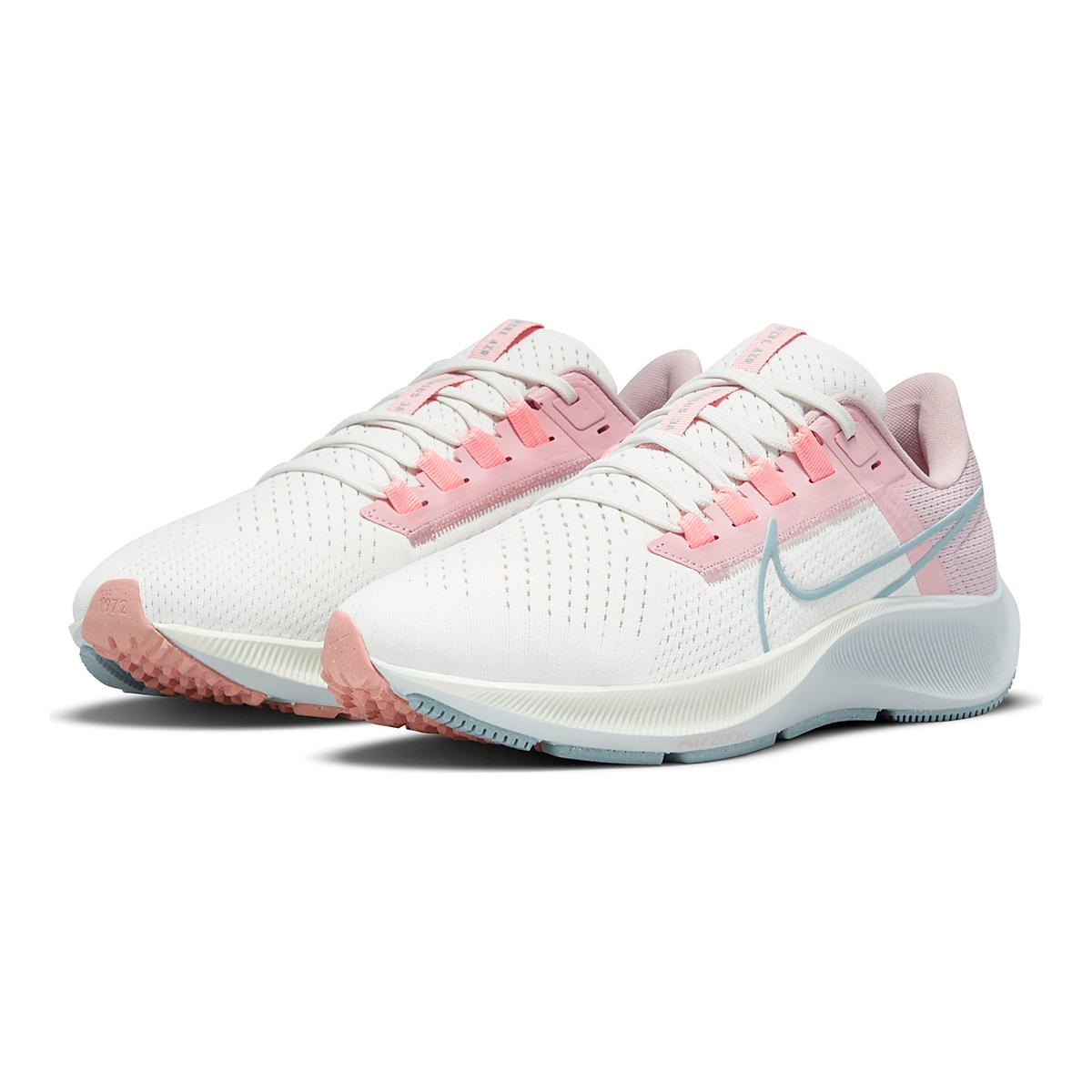 Women's Nike Air Zoom Pegasus 38 Running Shoe - Color: Sail/Ocean Cube/Pink Glaze/Crimson Bliss - Size: 5 - Width: Regular, Sail/Ocean Cube/Pink Glaze/Crimson Bliss, large, image 3