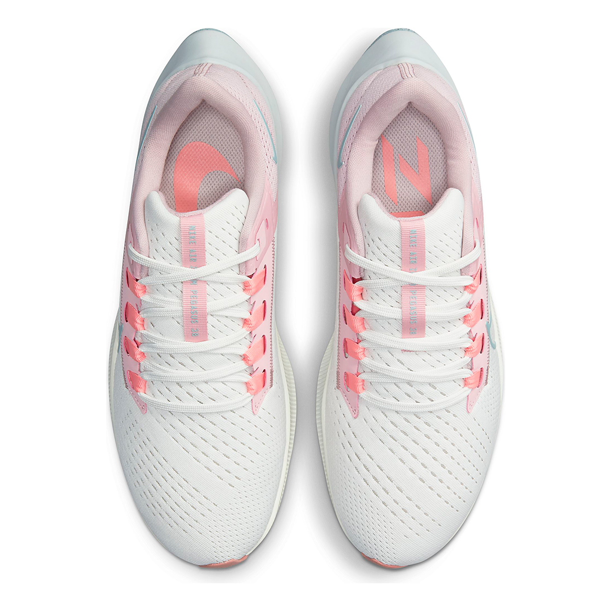 Women's Nike Air Zoom Pegasus 38 Running Shoe - Color: Sail/Ocean Cube/Pink Glaze/Crimson Bliss - Size: 5 - Width: Regular, Sail/Ocean Cube/Pink Glaze/Crimson Bliss, large, image 6