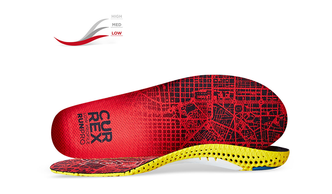 Currex Insole RunPro Low - Color: Red - Size: XS, Red, large, image 1