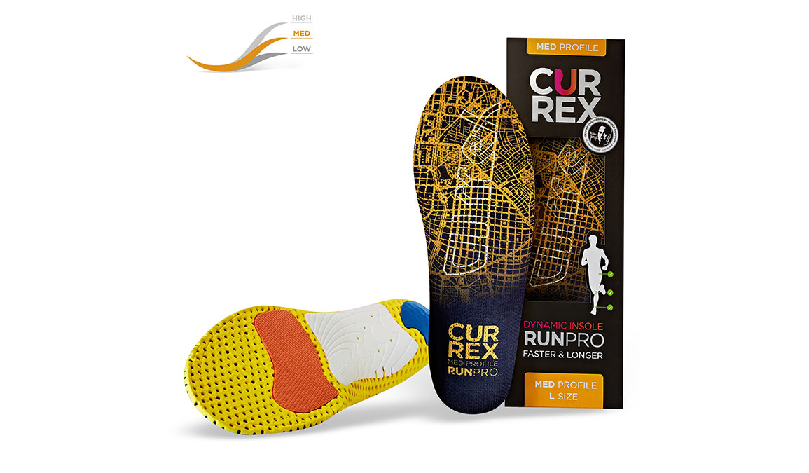 Currex Insole RunPro Med - Color: Orange - Size: XS, Orange, large, image 4