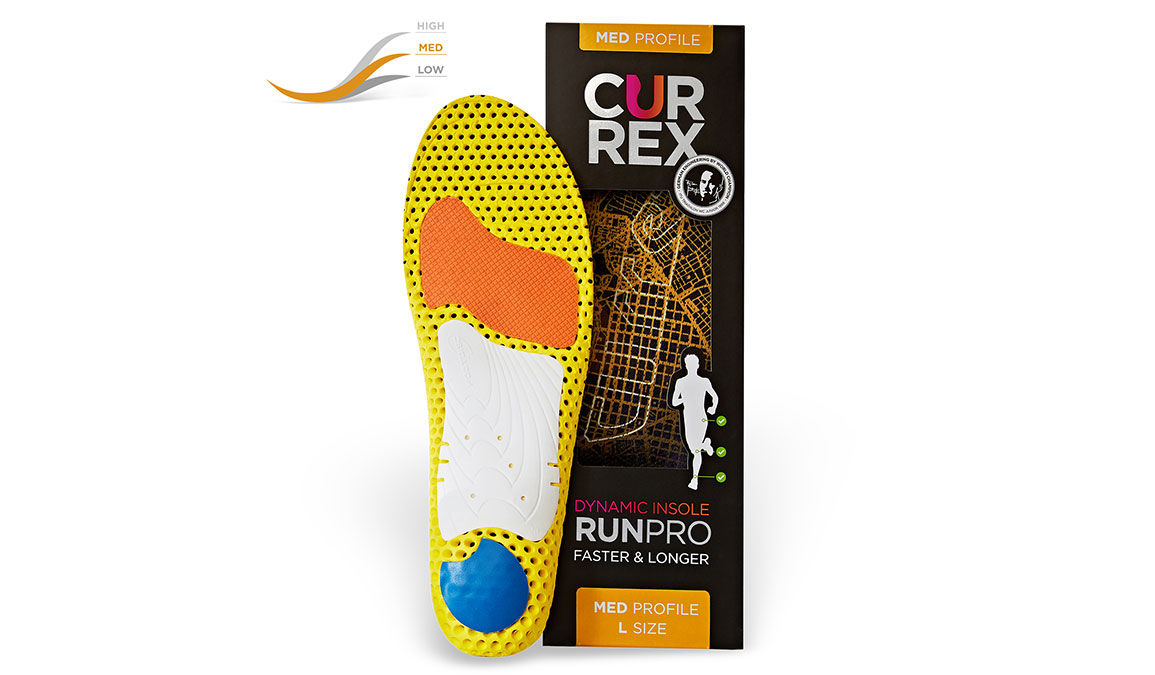 Currex Insole RunPro Med - Color: Orange - Size: XS, Orange, large, image 3