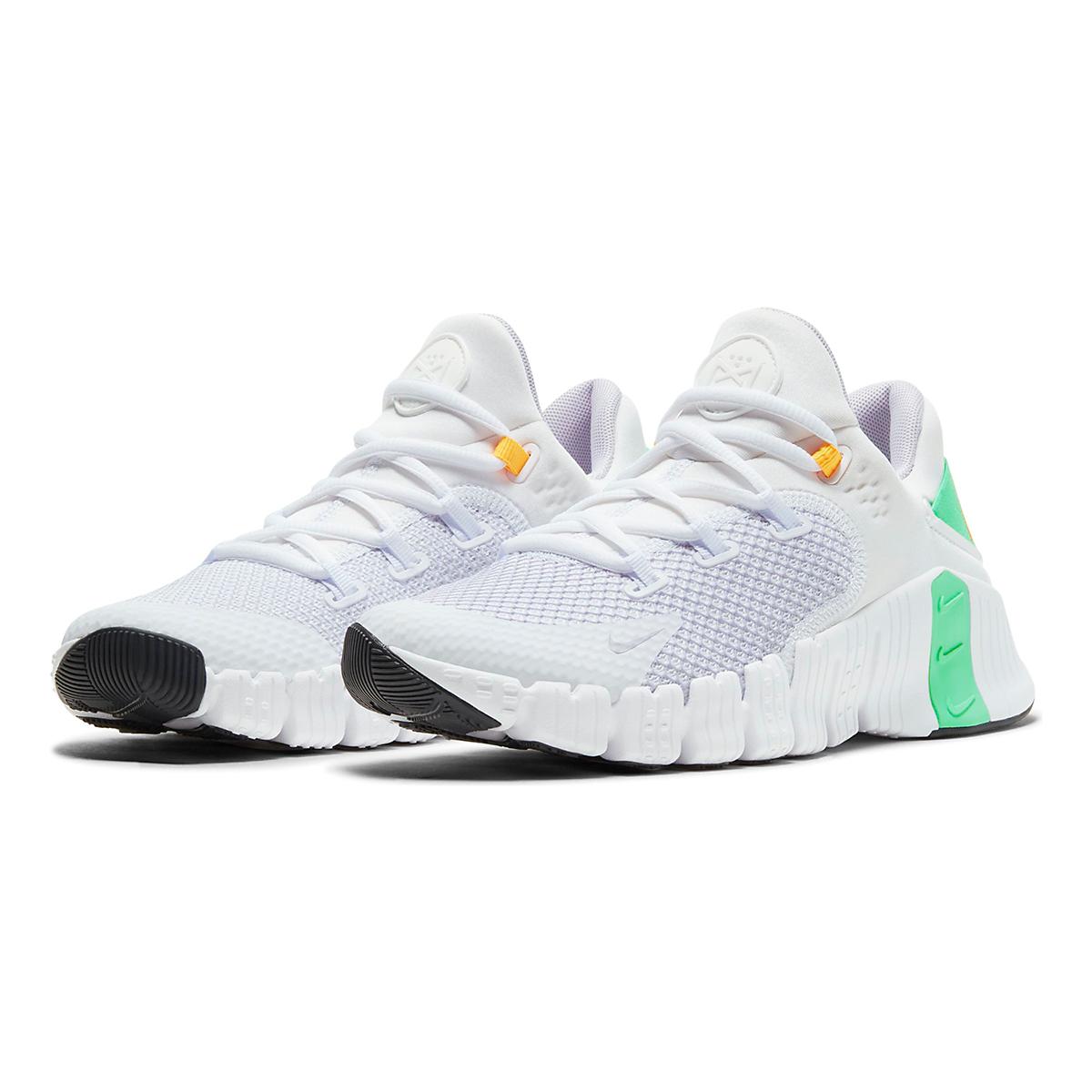 Women's Nike Free Metcon 4 Training Shoe - Color: White/Infinite Lilac/Smoke Grey - Size: 5 - Width: Regular, White/Infinite Lilac/Smoke Grey, large, image 3