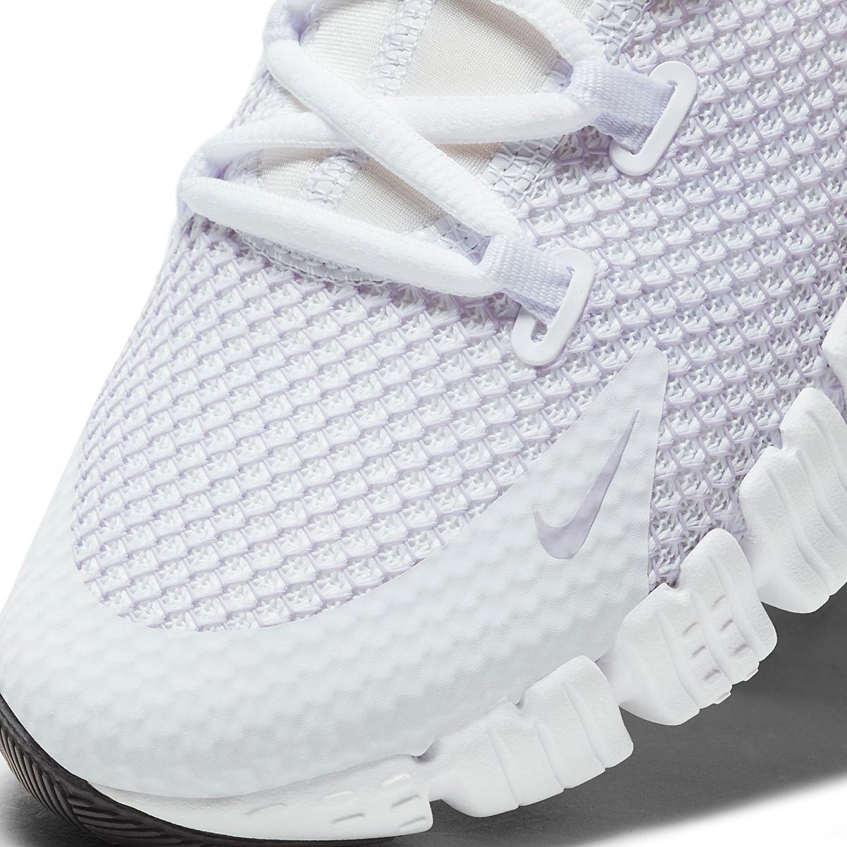 Women's Nike Free Metcon 4 Training Shoe - Color: White/Infinite Lilac/Smoke Grey - Size: 5 - Width: Regular, White/Infinite Lilac/Smoke Grey, large, image 4