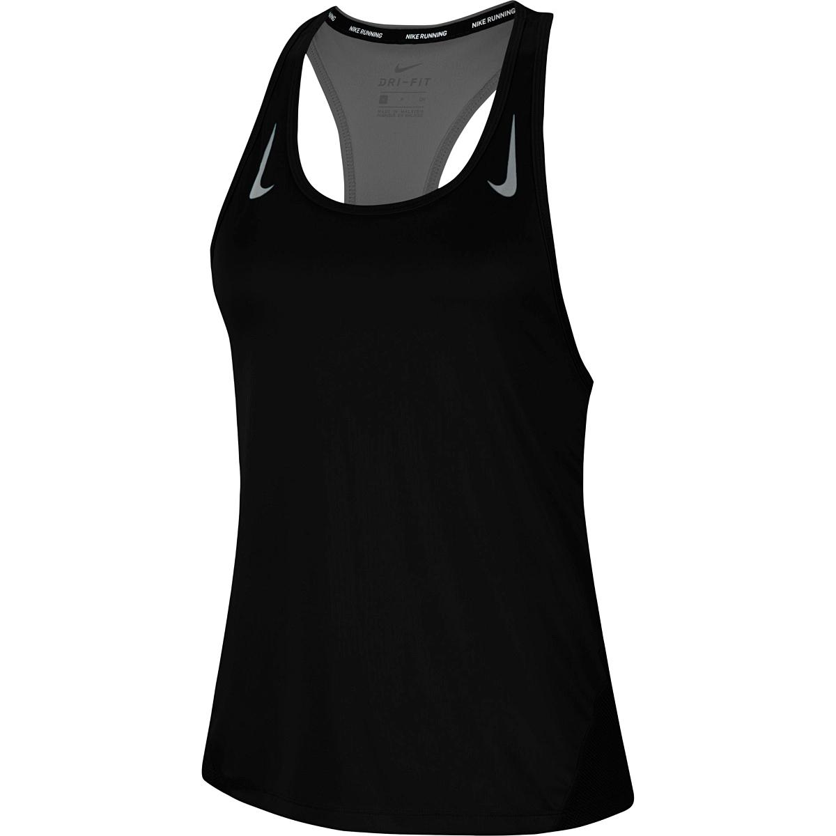 Women's Nike Miler Women's Running Singlet - Color: Black/Reflective - Size: S, Black/Reflective, large, image 1