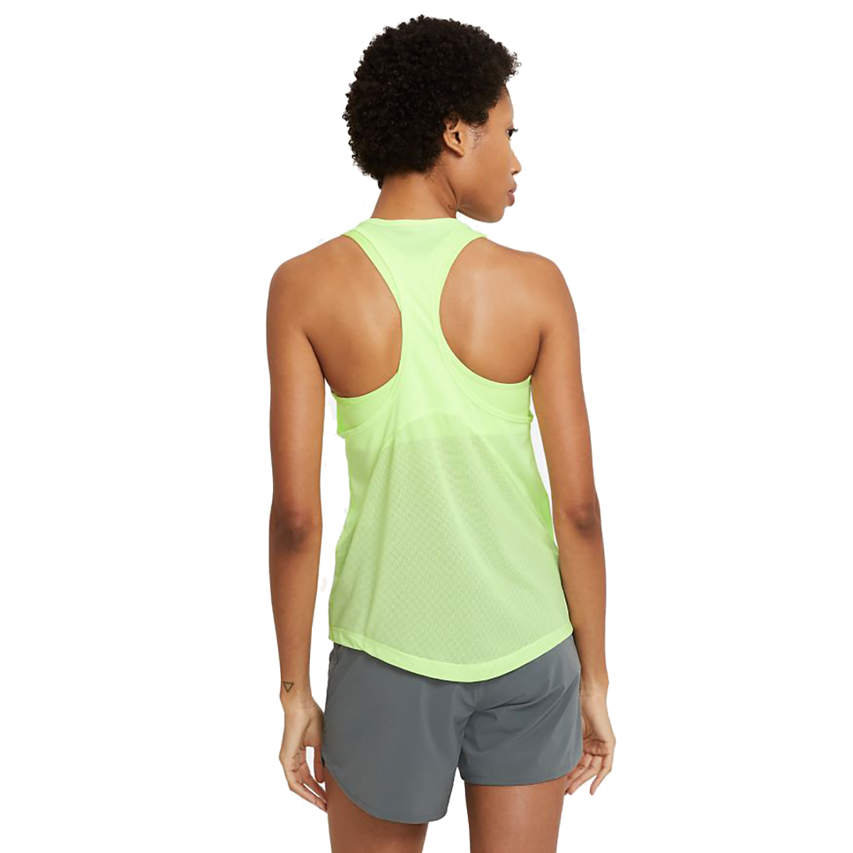 Women's Nike Miler Women's Running Singlet - Color: Barely Volt/Reflective Silver - Size: XS, Barely Volt/Reflective Silver, large, image 2