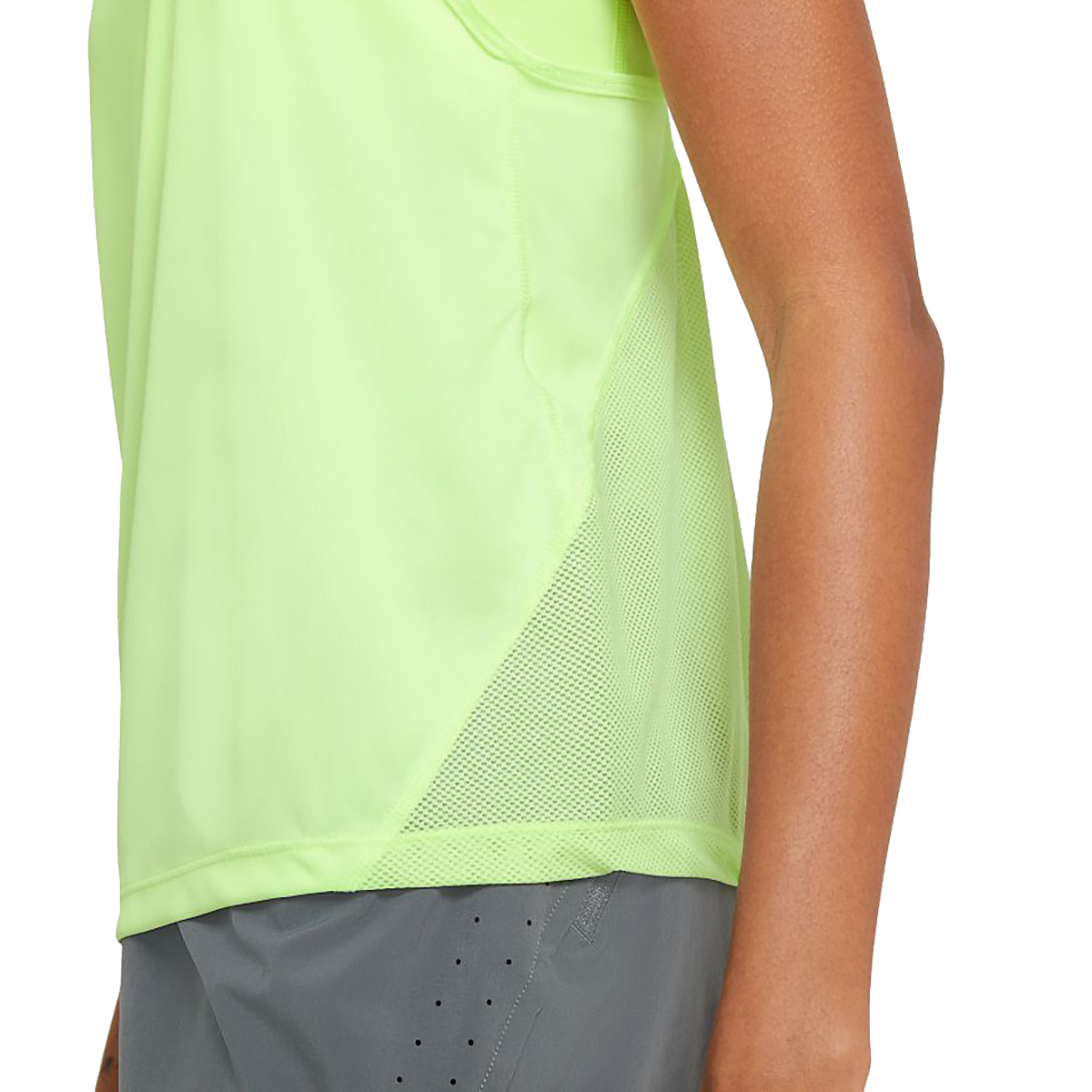 Women's Nike Miler Women's Running Singlet - Color: Barely Volt/Reflective Silver - Size: XS, Barely Volt/Reflective Silver, large, image 4