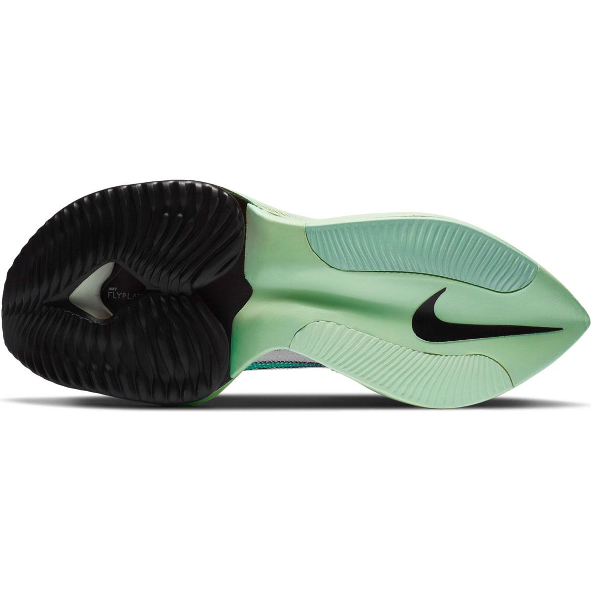 Women's Nike Air Zoom Alphafly Next% Running Shoe - Color: White/Flash Crimson/Jade Aura - Size: 5 - Width: Regular, White/Flash Crimson/Jade Aura, large, image 4