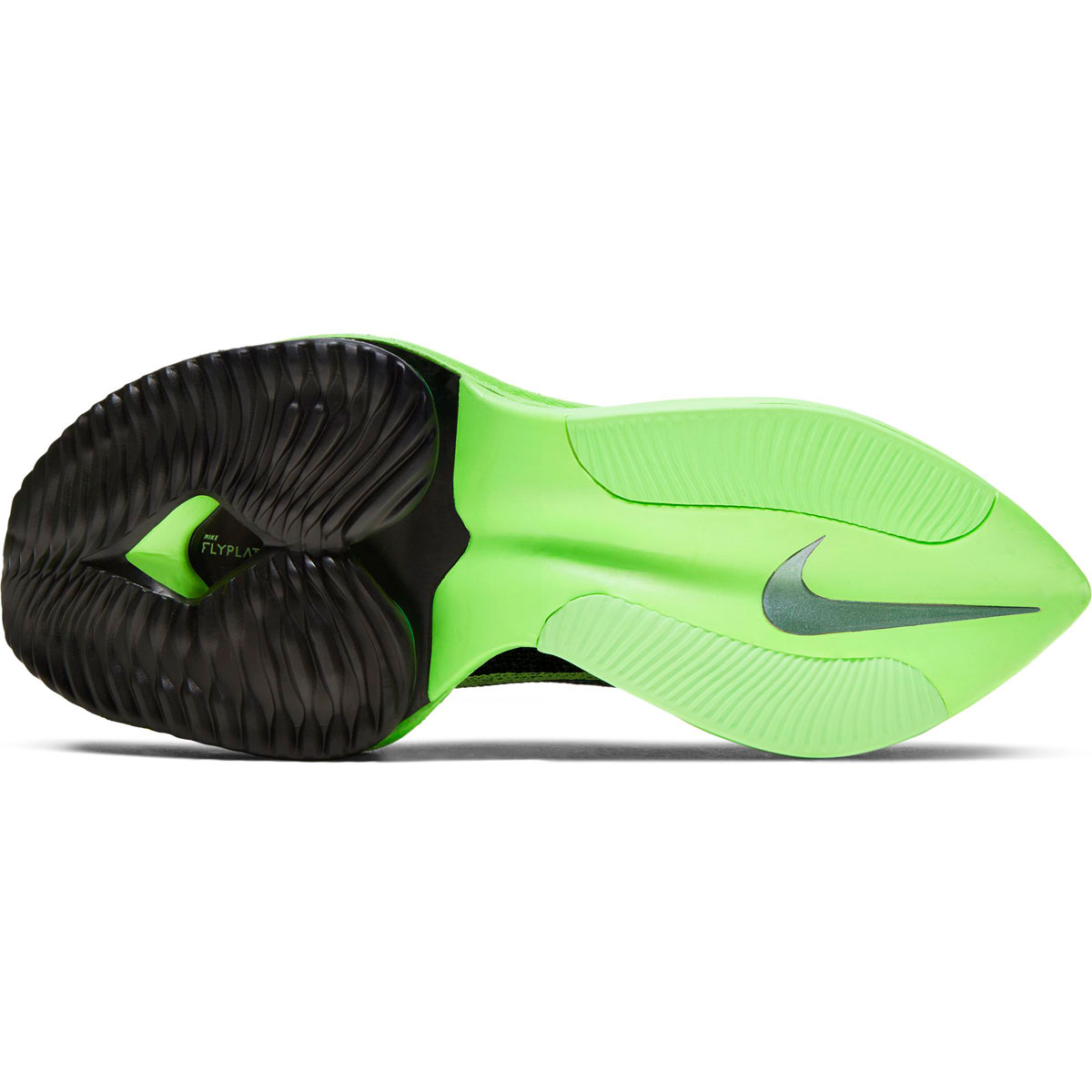 Women's Nike Air Zoom Alphafly Next% Running Shoe - Color: Black/Lime Blast - Size: 5 - Width: Regular, Black/Lime Blast, large, image 3