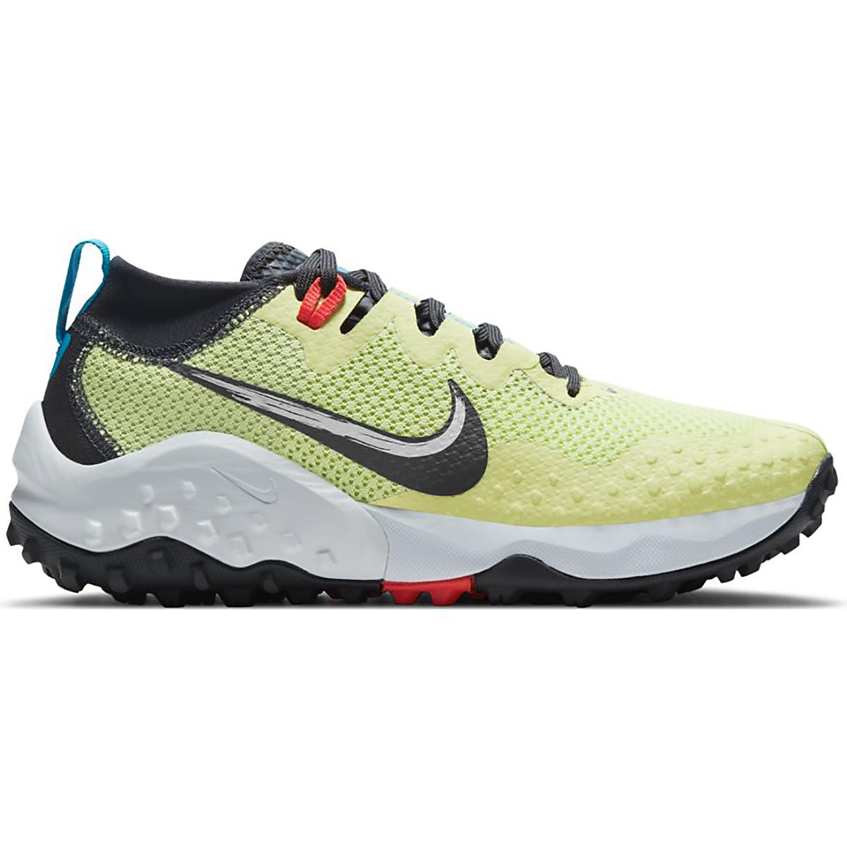 Women's Nike Wildhorse 7 Trail Running Shoe - Color: Limelight/Off Noir-Laser Blue-Chile Red - Size: 5 - Width: Regular, Limelight/Off Noir-Laser Blue-Chile Red, large, image 1