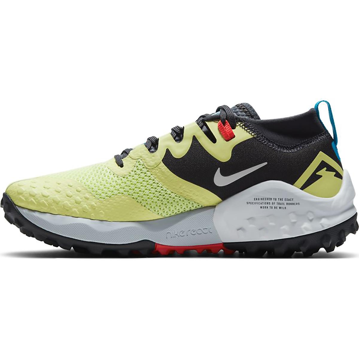 Women's Nike Wildhorse 7 Trail Running Shoe - Color: Limelight/Off Noir-Laser Blue-Chile Red - Size: 5 - Width: Regular, Limelight/Off Noir-Laser Blue-Chile Red, large, image 2