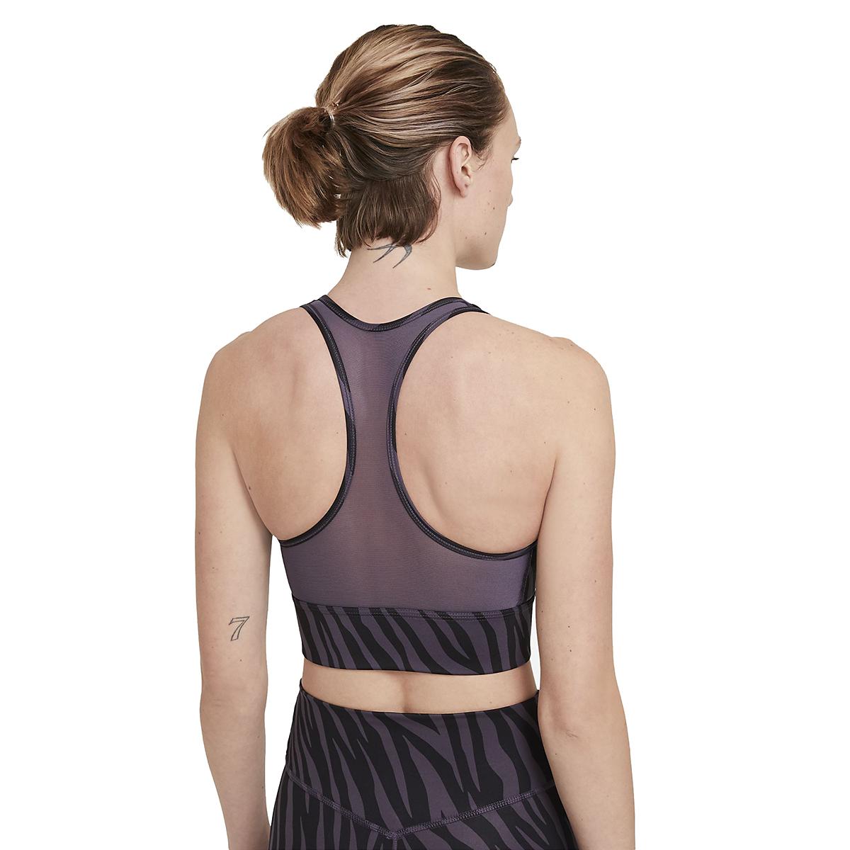 Women's Nike Dri-FIT Swoosh Icon Clash Bra - Color: Dark Raisin/White - Size: XS, Dark Raisin/White, large, image 3
