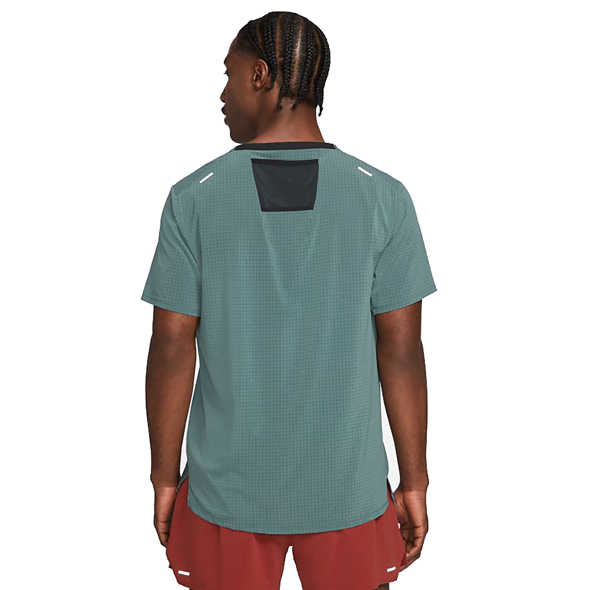 Men's Nike Dri-FIT Rise 365 Short-Sleeve Trail Running Top - Color: Hasta/Reflective Silver - Size: S, Hasta/Reflective Silver, large, image 2