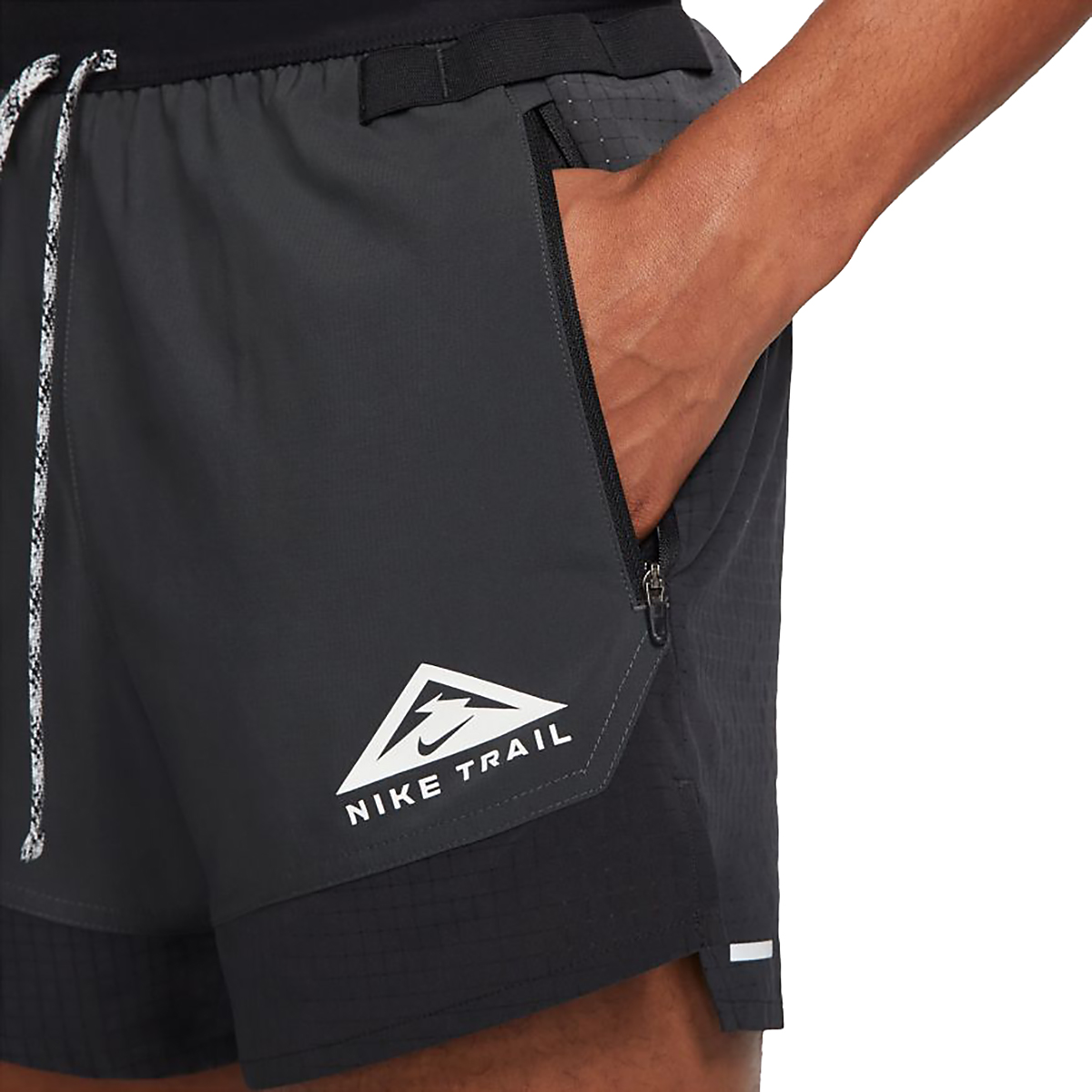 Men's Nike Dri-FIT Flex Stride Trail Shorts - Color: Black/Dark Smoke Grey/White - Size: S, Black/Dark Smoke Grey/White, large, image 3