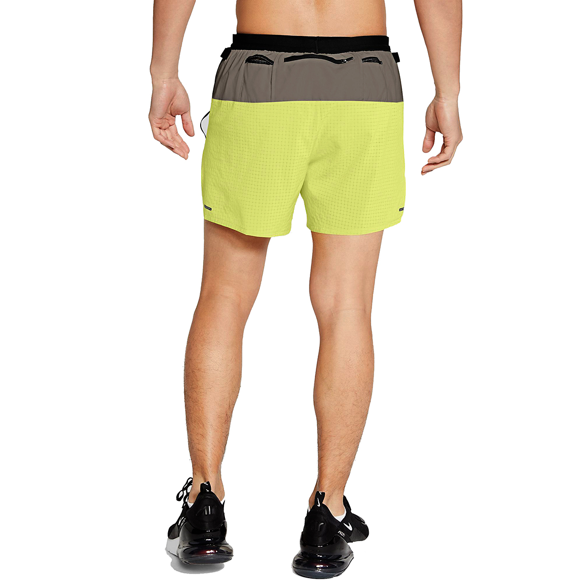 Men's Nike Dri-FIT Flex Stride Trail Shorts - Color: Light Lemon Twist/Moon Fossil/Bright Spruce - Size: S, Light Lemon Twist/Moon Fossil/Bright Spruce, large, image 2