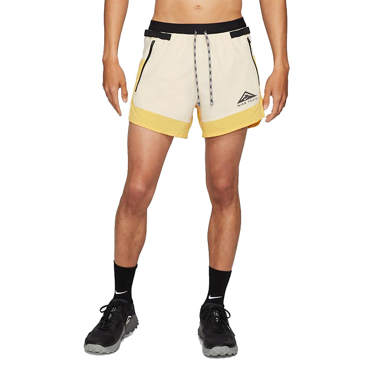 Men's Nike Dri-FIT Flex Stride Trail Shorts - Color: Solar Flare/Beach/Black - Size: S, Solar Flare/Beach/Black, large, image 1