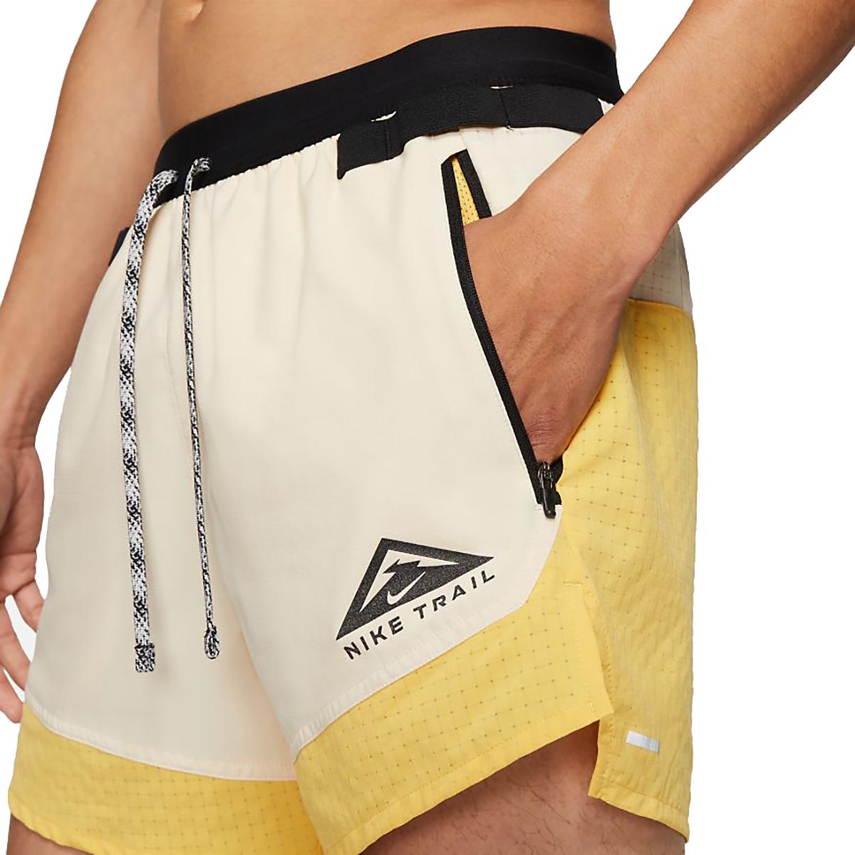 Men's Nike Dri-FIT Flex Stride Trail Shorts - Color: Solar Flare/Beach/Black - Size: S, Solar Flare/Beach/Black, large, image 3