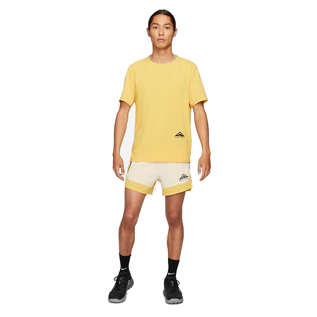 Men's Nike Dri-FIT Flex Stride Trail Shorts - Color: Solar Flare/Beach/Black - Size: S, Solar Flare/Beach/Black, large, image 6