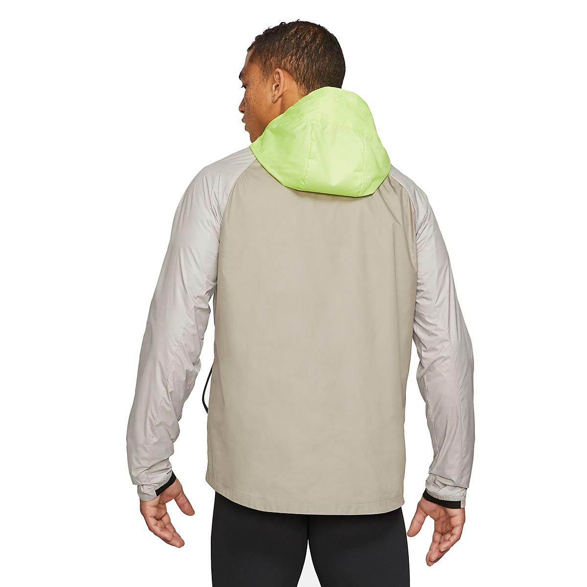 Men's Nike Windrunner Trail Running Jacket - Color: Light Lemon Twist/Moon Fossil/Bright Spruce - Size: S, Light Lemon Twist/Moon Fossil/Bright Spruce, large, image 2
