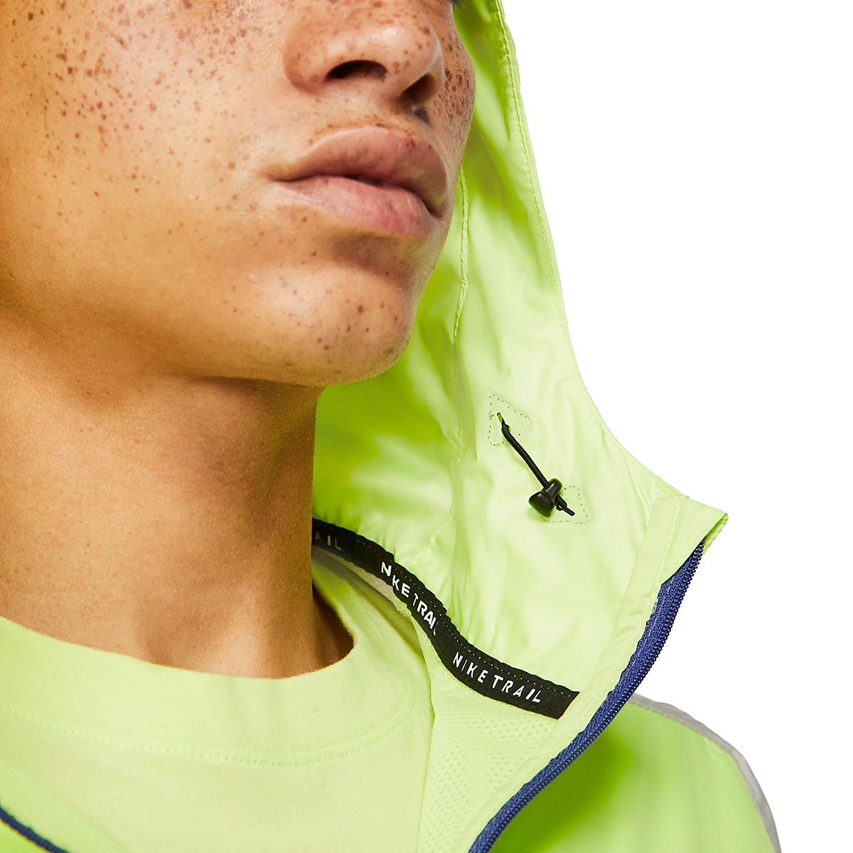 Men's Nike Windrunner Trail Running Jacket - Color: Light Lemon Twist/Moon Fossil/Bright Spruce - Size: S, Light Lemon Twist/Moon Fossil/Bright Spruce, large, image 4
