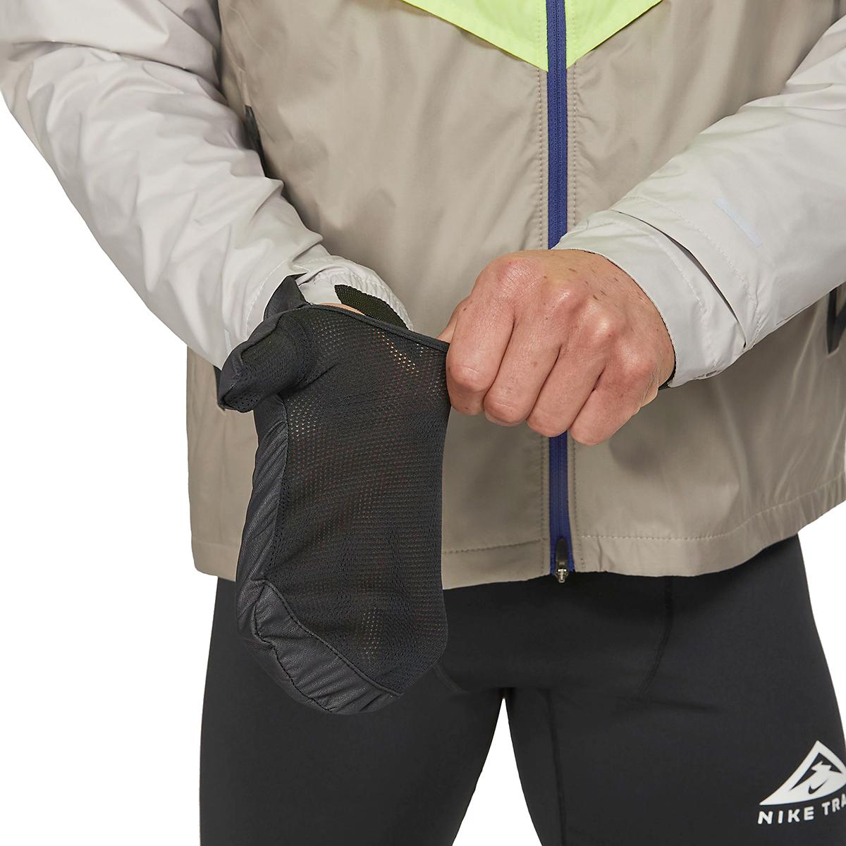 Men's Nike Windrunner Trail Running Jacket - Color: Light Lemon Twist/Moon Fossil/Bright Spruce - Size: S, Light Lemon Twist/Moon Fossil/Bright Spruce, large, image 5