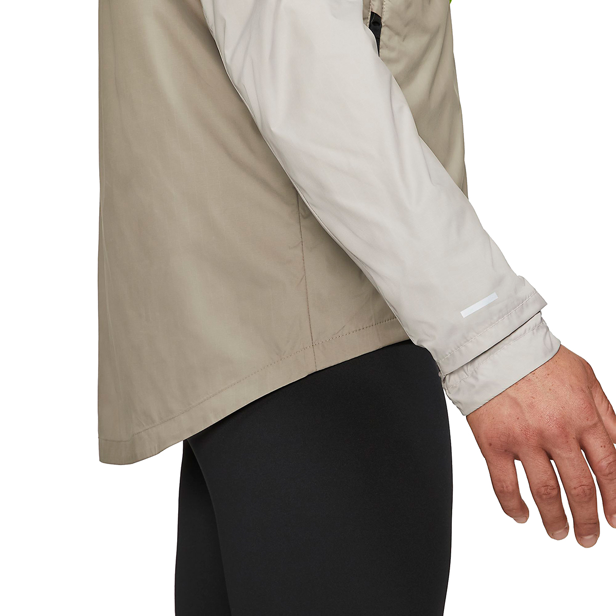 Men's Nike Windrunner Trail Running Jacket - Color: Light Lemon Twist/Moon Fossil/Bright Spruce - Size: S, Light Lemon Twist/Moon Fossil/Bright Spruce, large, image 6