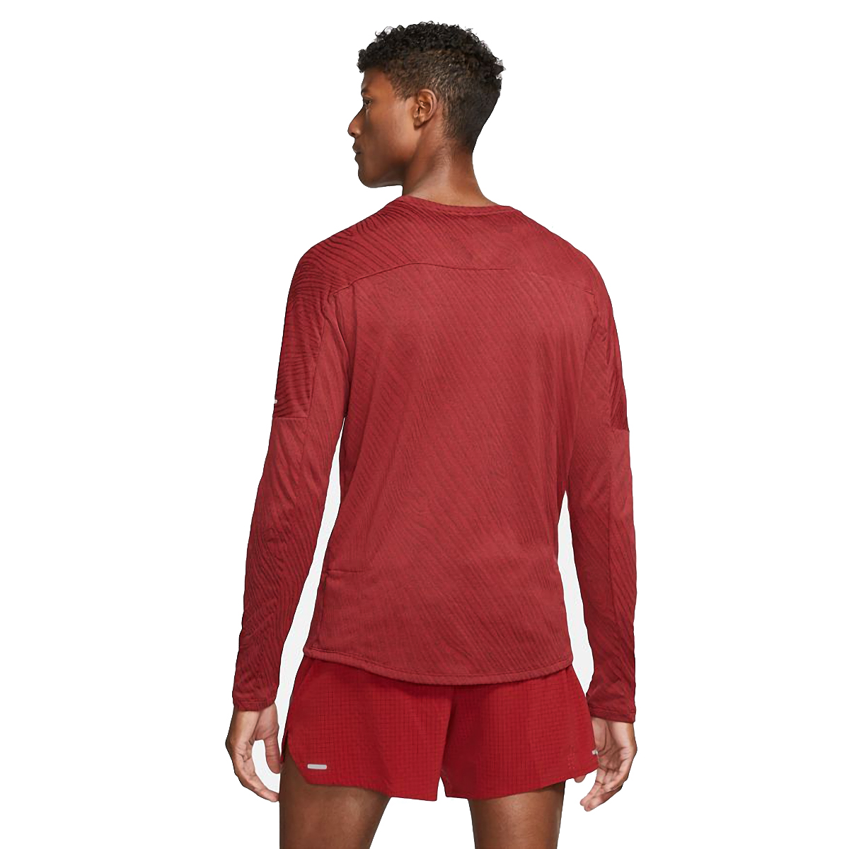 Men's Nike Dri-FIT Element 1/2-Zip Trail Running Top - Color: Dark Cayenne/Bronze Eclipse - Size: S, Dark Cayenne/Bronze Eclipse, large, image 2